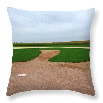 Baseball Throw Pillow by Frank Romeo