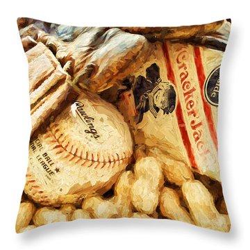 Baseball Fundamentals Throw Pillow