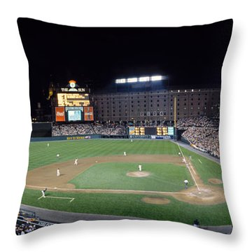 Baseball Game Camden Yards Baltimore Md Throw Pillow