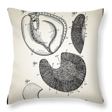 Baseball Glove Patent Throw Pillow by Bill Cannon