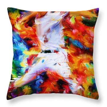 Baseball  I Throw Pillow by Lourry Legarde