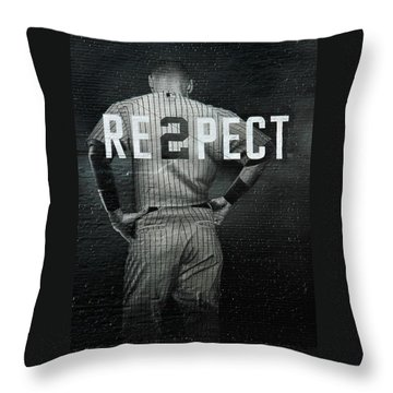 Baseball With Jeter Throw Pillow
