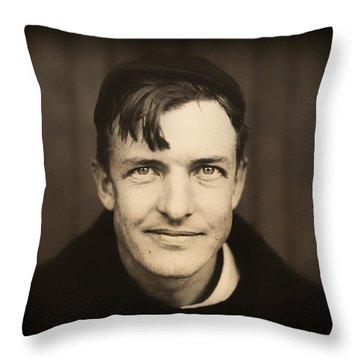 Baseball Legend Christy Mathewson 1910 Throw Pillow