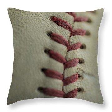 Baseball Macro Throw Pillow