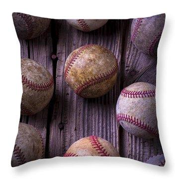 Baseball Memories Throw Pillow by Garry Gay