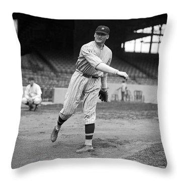 Baseball Star Walter Johnson Throw Pillow