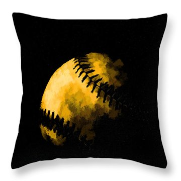 Baseball The American Pastime Throw Pillow by Edward Fielding