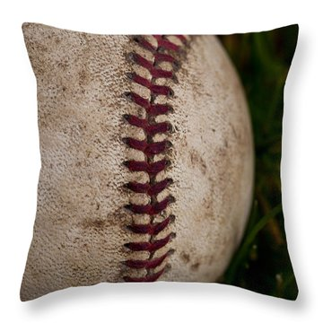Baseball - The National Pastime Throw Pillow by David Patterson