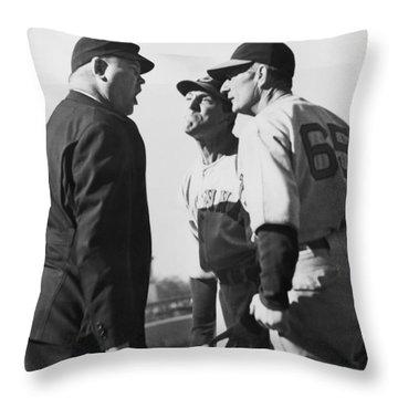 Baseball Umpire Dispute Throw Pillow