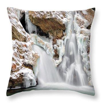Bash Bish Falls Throw Pillow by Bill Wakeley