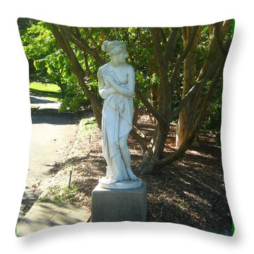 Throw Pillow featuring the photograph Bashful Maiden by Leanne Seymour