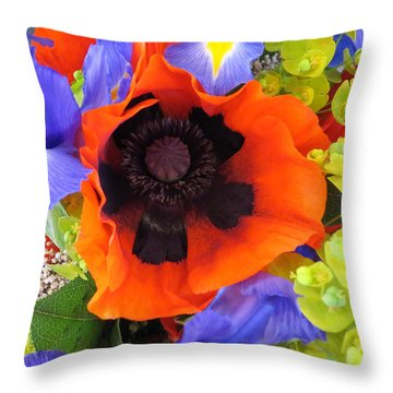 Bashful Poppy Throw Pillow