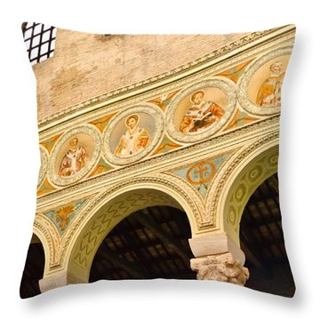 Basilica Di Sant' Apollinare Nuovo - Ravenna Italy Throw Pillow by Jon Berghoff