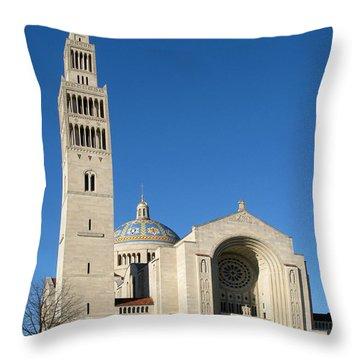Basilica In Washington Dc Throw Pillow