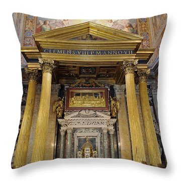Basilica Of St John Lateran  Throw Pillow
