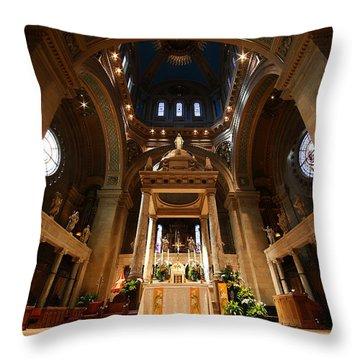 Basilica Of St Mary Minneapolis Minnesota Interior Throw Pillow