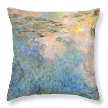 Basin Of Water Lilies Throw Pillow by Claude Monet