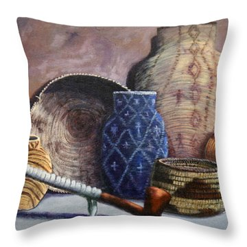 Basket Collection Throw Pillow
