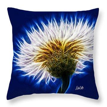 Basket Flower Inner Beauty Throw Pillow