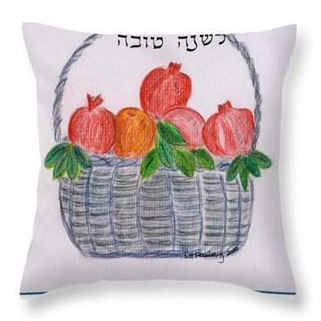 Basket For The New Year Throw Pillow