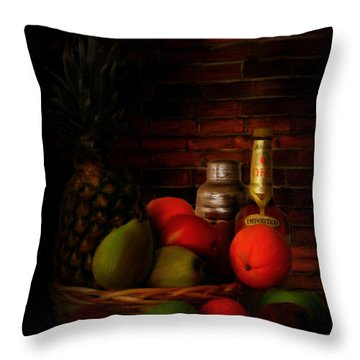 Basket Of Colors Throw Pillow