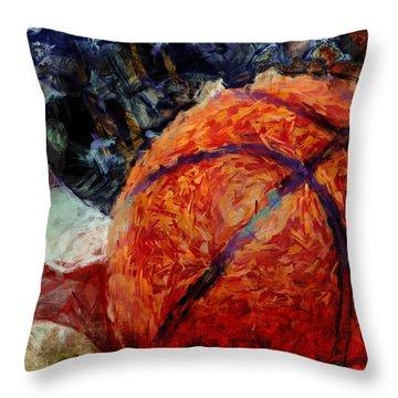 Basketball Usa Throw Pillow by David G Paul