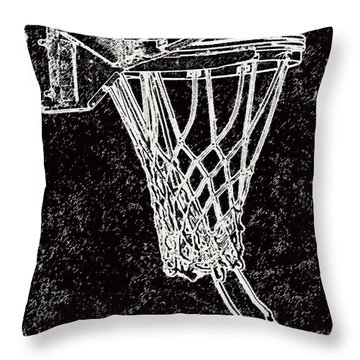 Basketball Years Throw Pillow by Karol Livote