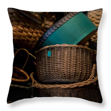 Baskets Galore Throw Pillow