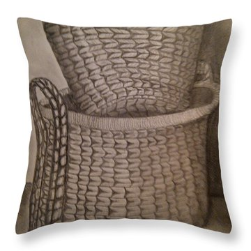 Baskets Throw Pillow by Irving Starr