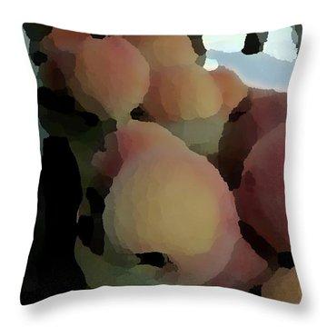Baskets Of Peaches Throw Pillow
