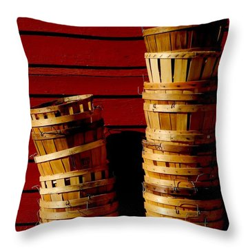 Baskets Stacked Throw Pillow