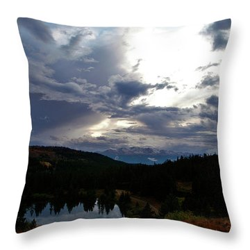 Basking In Twilight Throw Pillow by Jeremy Rhoades