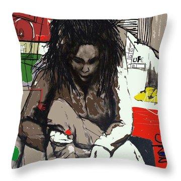 Basquiat Throw Pillow