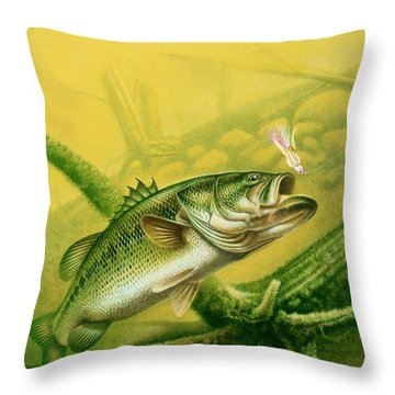 Bass And Jig Throw Pillow by jon Q Wright