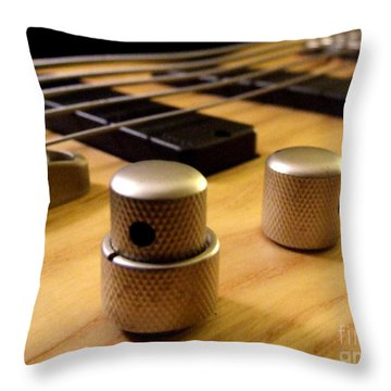 Bass Throw Pillow by Andrea Anderegg