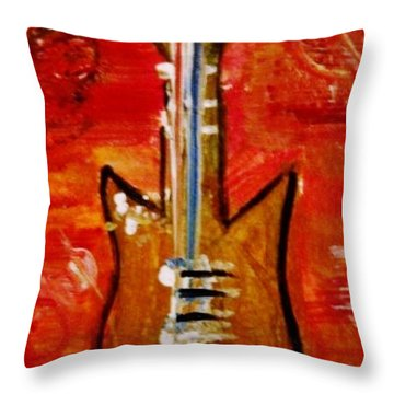 Bass Guitar 1 Throw Pillow by Kelly Turner
