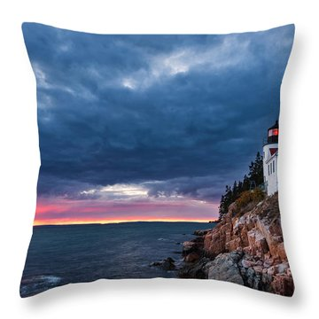 Bass Harbor Attitude Throw Pillow