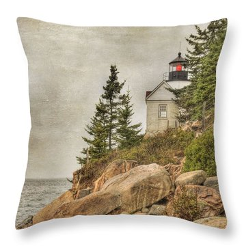 Bass Harbor Head Lighthouse. Acadia National Park Throw Pillow