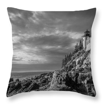 Bass Harbor Views Throw Pillow