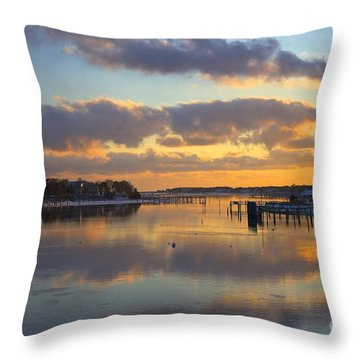 Bass River Reflection Throw Pillow
