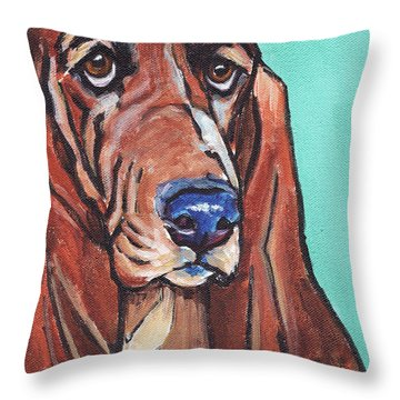 Basset II Throw Pillow