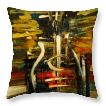 Bassguitar 2 Throw Pillow by Kelly Turner