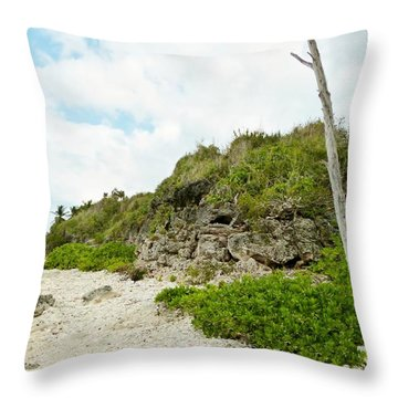 Throw Pillow featuring the photograph Bat Cave by Amar Sheow
