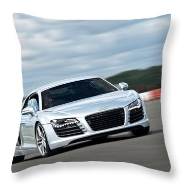 Bat Out Of Hell - Audi R8 Throw Pillow