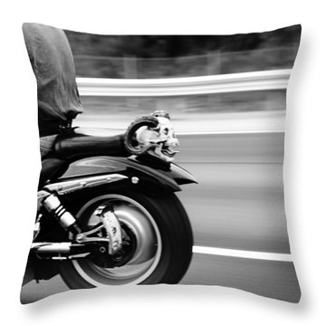 Bat Out Of Hell Throw Pillow by Laura Fasulo