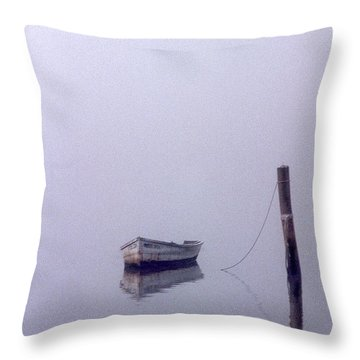 Bateau Throw Pillow by Skip Willits