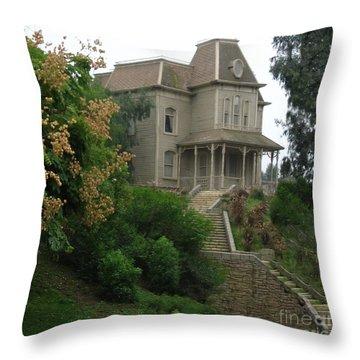 House Of Norman Bates Throw Pillow