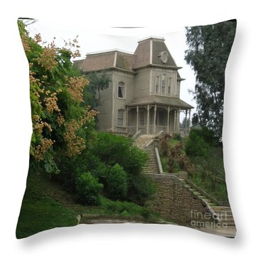 House Of Norman Bates Throw Pillow