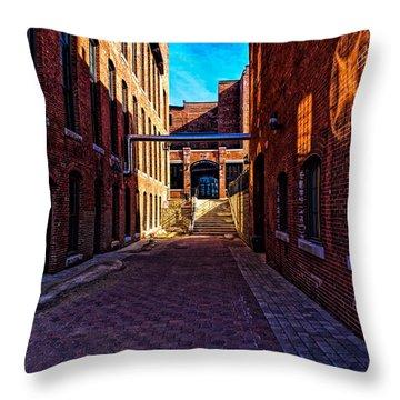 Bates Mill Lewiston Maine Throw Pillow by Bob Orsillo