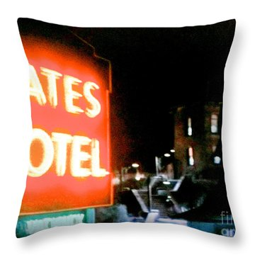Bates Motel Vacancy Throw Pillow